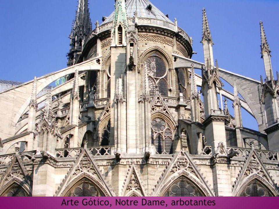 Arte Gótico, Notre Dame, arbotantes