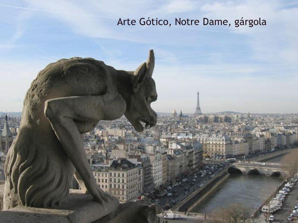 Arte Gótico, Notre Dame, gárgola