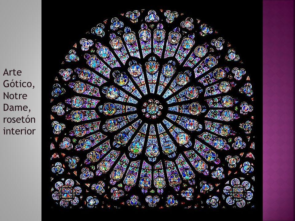 Arte Gótico, Notre Dame, rosetón interior