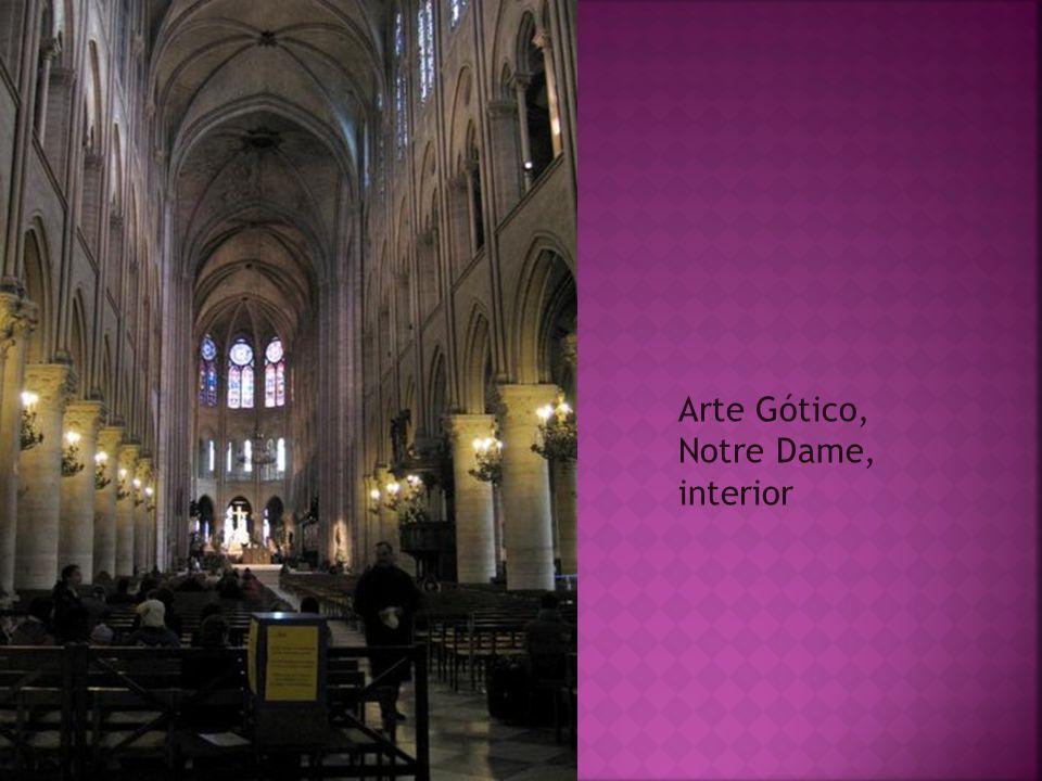 Arte Gótico, Notre Dame, interior