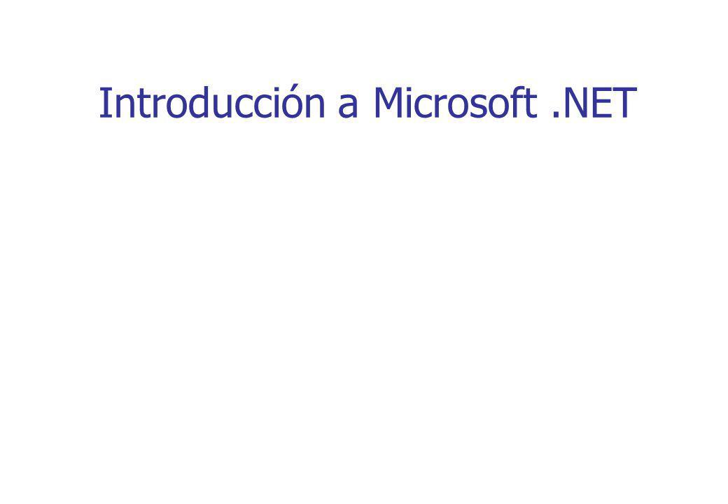 Introducción a Microsoft.NET