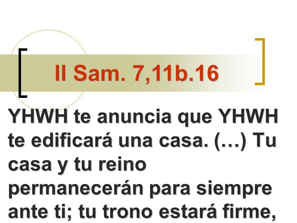 YHWH te anuncia que YHWH te edificará una casa.