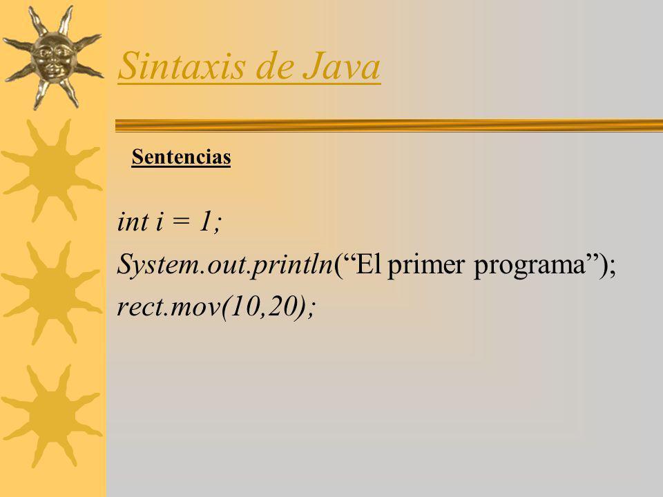 Sintaxis de Java Tipos de Datos TipoDescripción booleanTiene dos valores true o false.