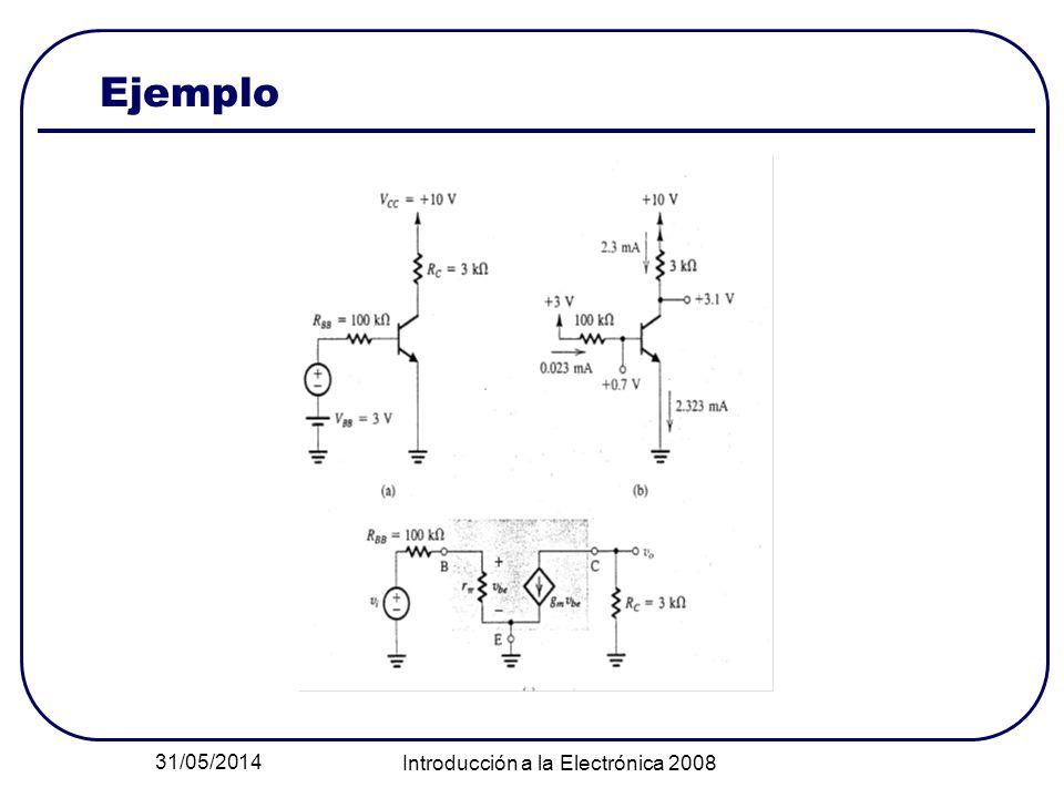 31/05/2014 Introducción a la Electrónica 2008 Ejemplo