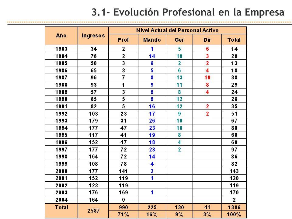 3.1- Evolución Profesional en la Empresa