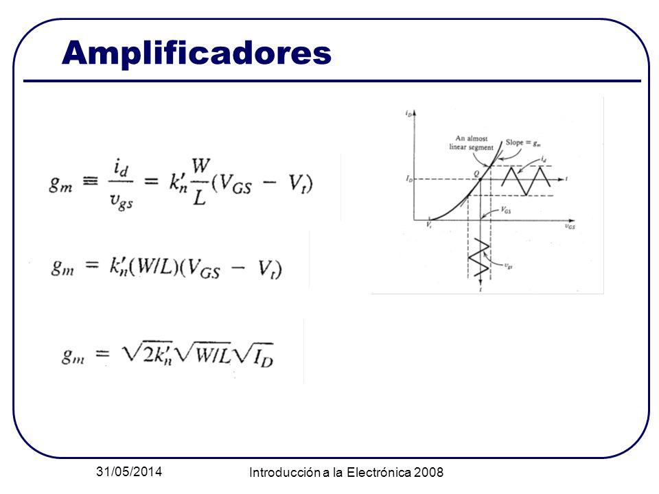 31/05/2014 Introducción a la Electrónica 2008 Amplificadores