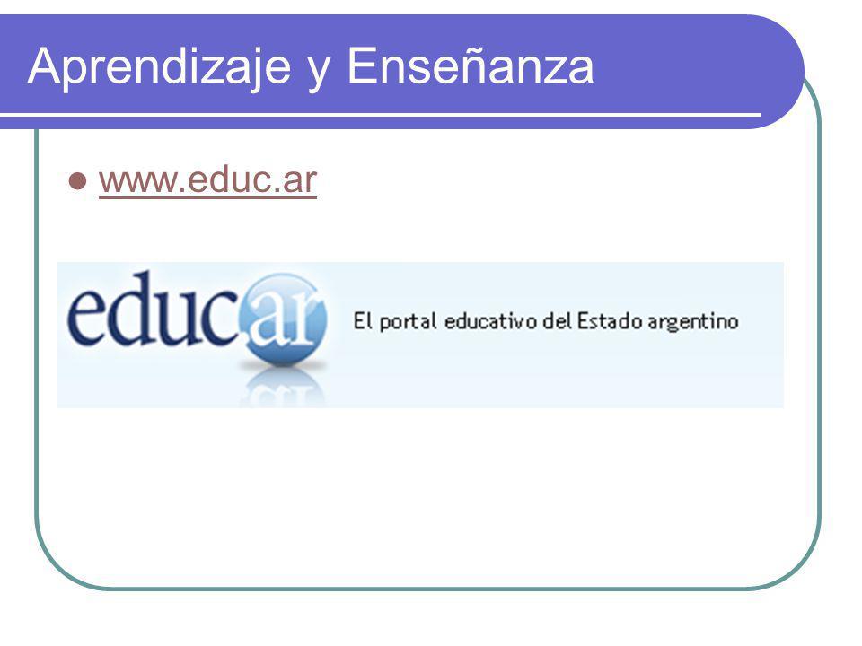 Aprendizaje y Enseñanza www.educ.ar
