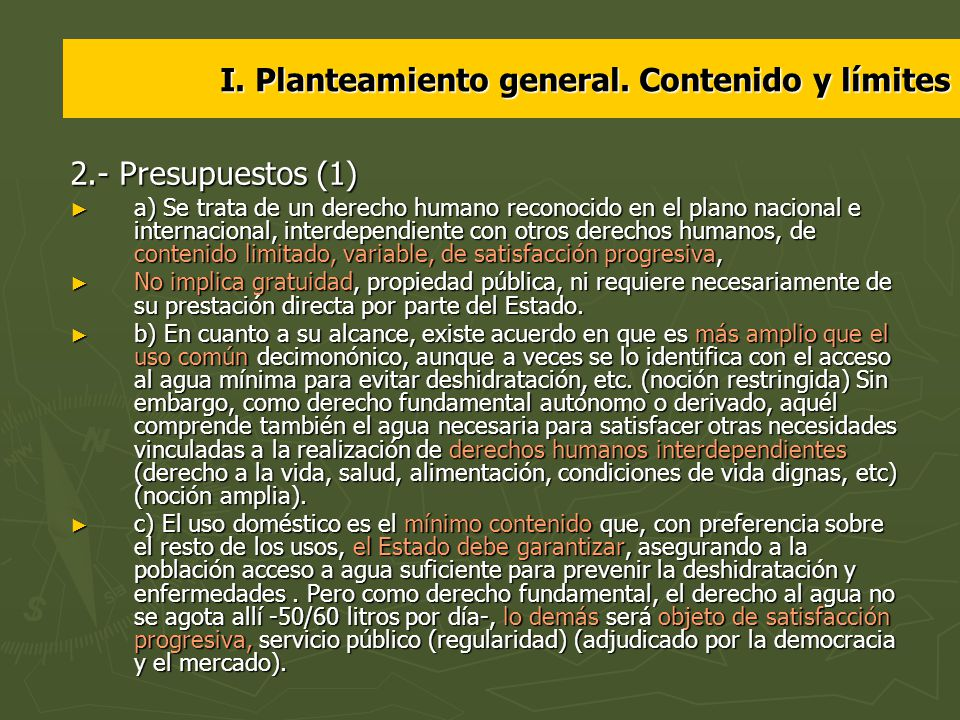 I. Planteamiento general. Contenido y límites 2.- Presupuestos (1) a) Se trata de un derecho humano reconocido en el plano nacional e internacional, i