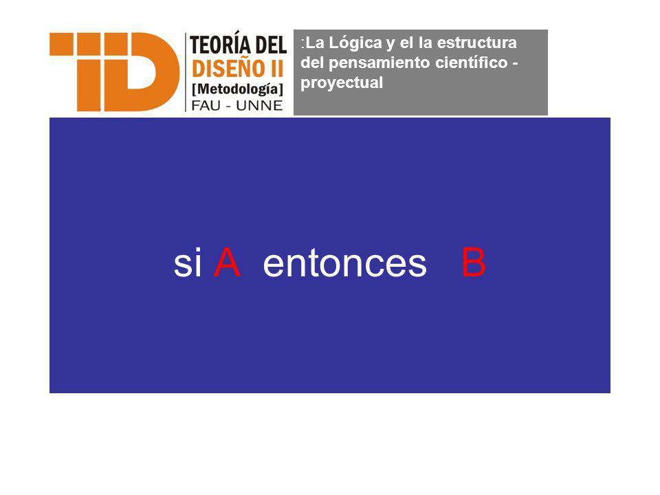 si A entonces B :La Lógica y el la estructura del pensamiento científico - proyectual