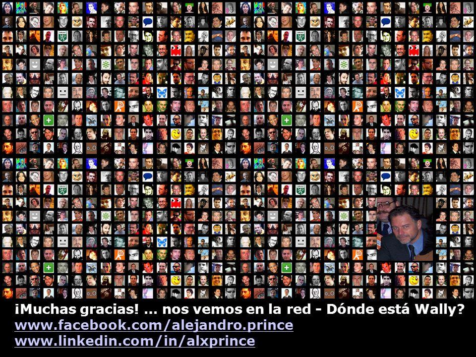 ¡Muchas gracias! … nos vemos en la red - Dónde está Wally? www.facebook.com/alejandro.prince www.linkedin.com/in/alxprince