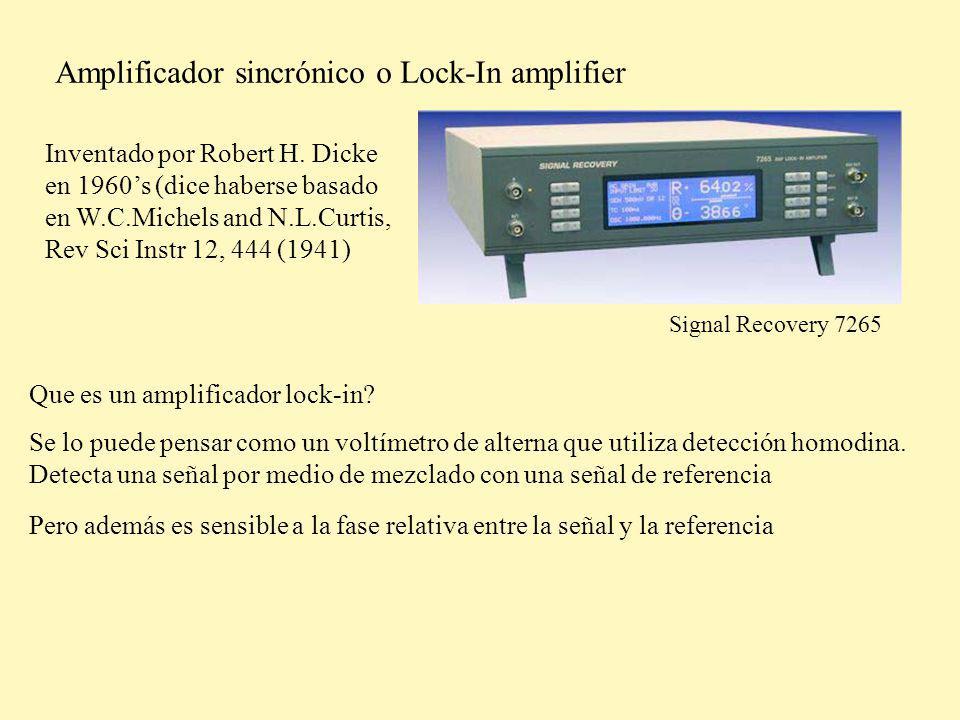 Amplificador sincrónico o Lock-In amplifier Que es un amplificador lock-in.