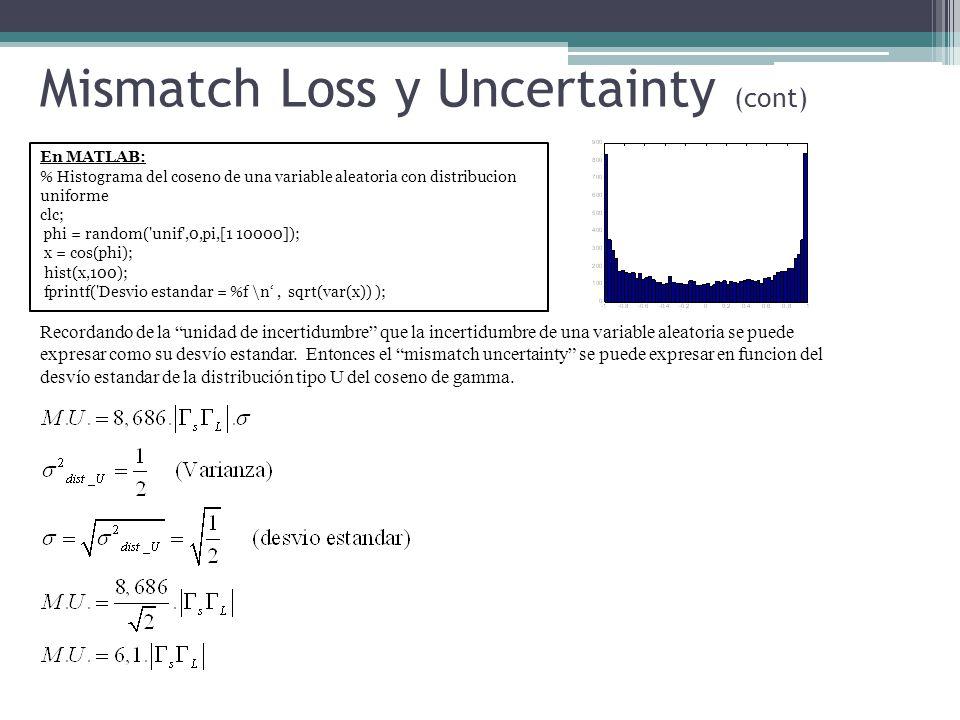 En MATLAB: % Histograma del coseno de una variable aleatoria con distribucion uniforme clc; phi = random('unif',0,pi,[1 10000]); x = cos(phi); hist(x,
