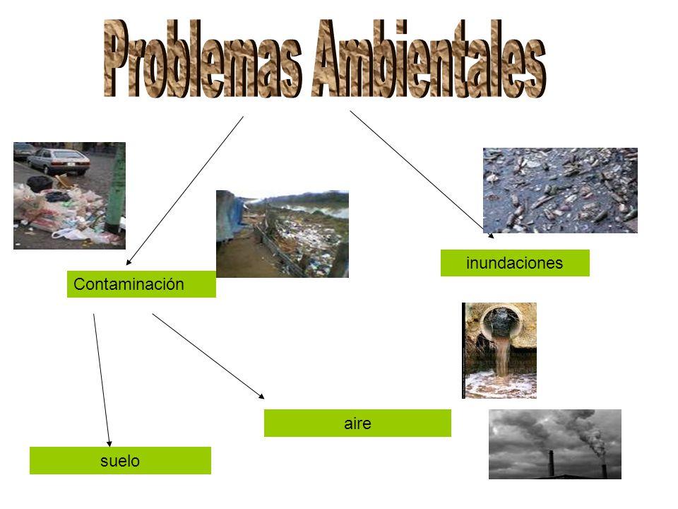 Contaminación aire suelo inundaciones