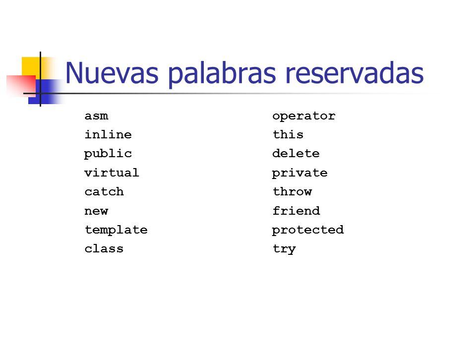 Los operadores new y delete Hasta ahora variables estáticas o automáticas.