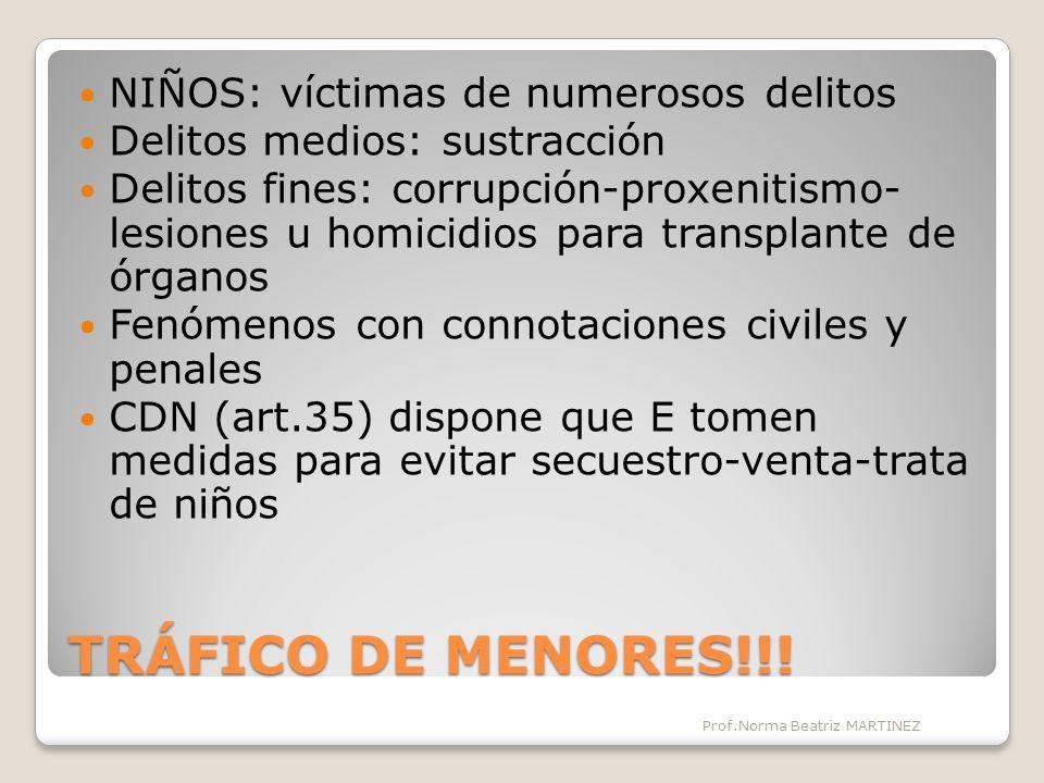 TRÁFICO DE MENORES!!.