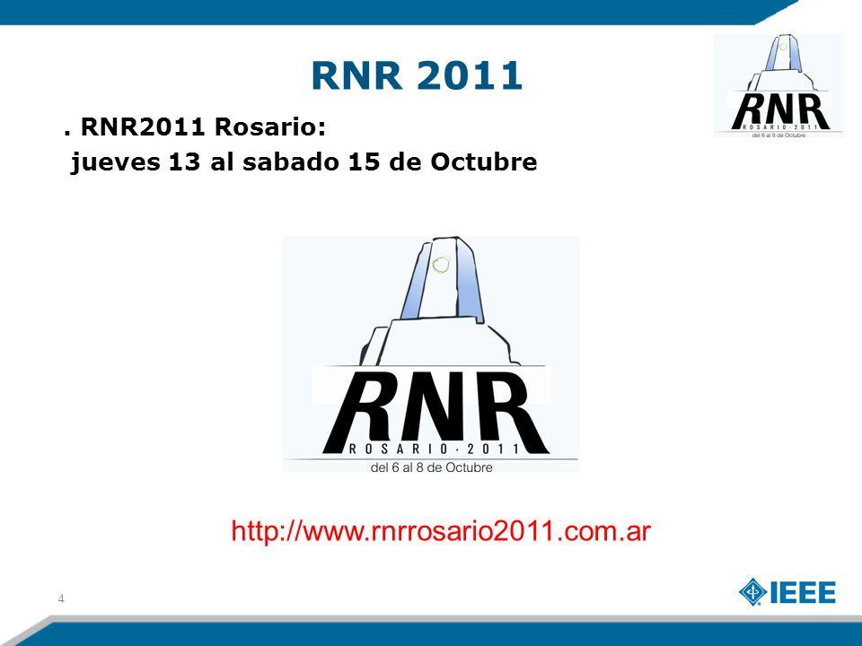 RNR 2011 La RNR es la oportunidad de conocer tanto estudiantes como ingenieros con intereses comunes.
