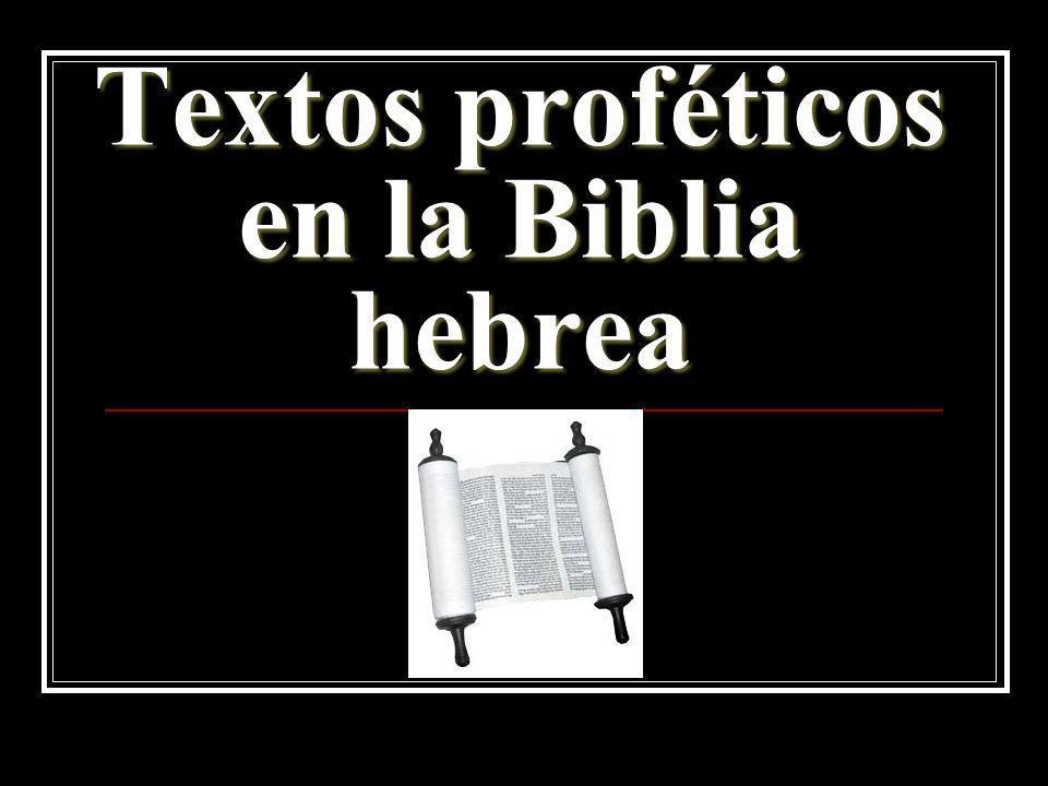 Textos proféticos en la Biblia hebrea