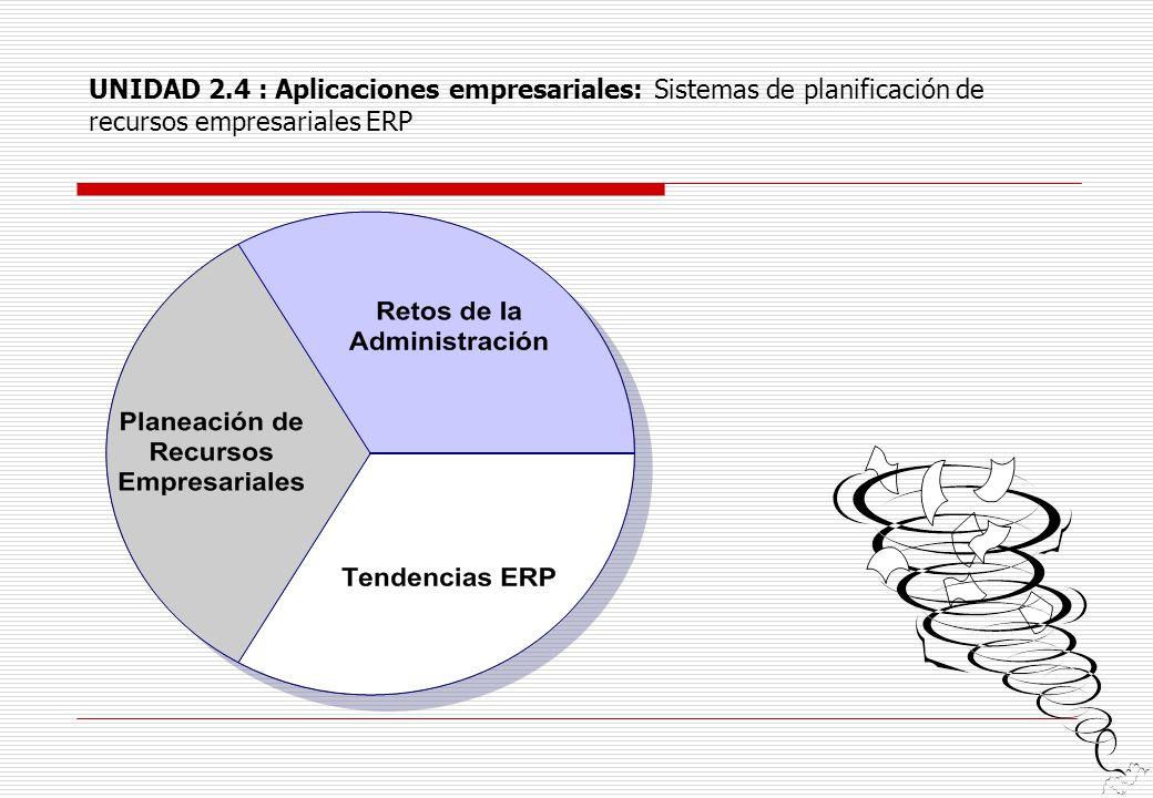 UNIDAD 2.4 : Aplicaciones empresariales: Sistemas de planificación de recursos empresariales ERP