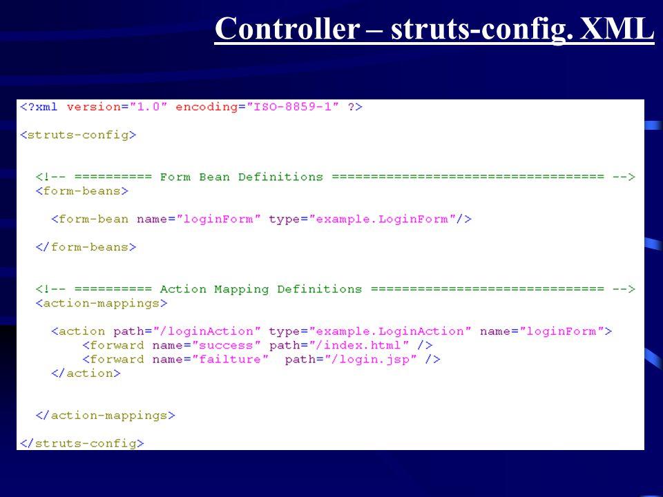 Controller – struts-config. XML