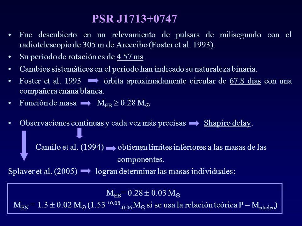 PSR J1713+0747 Fue descubierto en un relevamiento de pulsars de milisegundo con el radiotelescopio de 305 m de Areceibo (Foster et al. 1993). Su perío