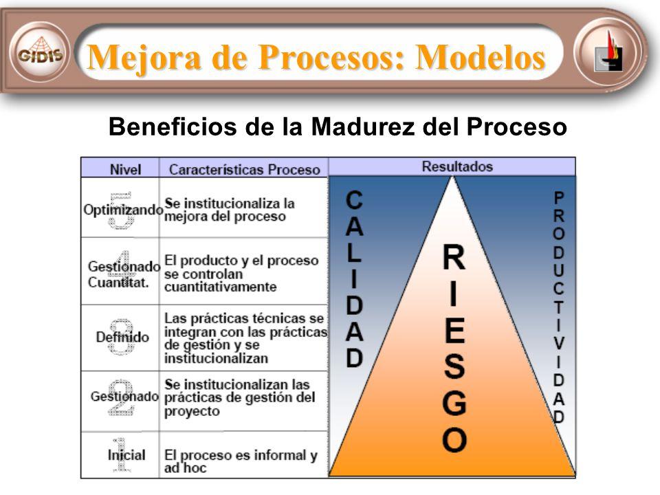 Beneficios de la Madurez del Proceso Mejora de Procesos: Modelos