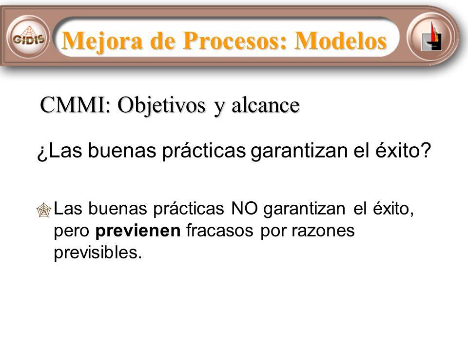 CMMI: Objetivos y alcance ¿Las buenas prácticas garantizan el éxito.