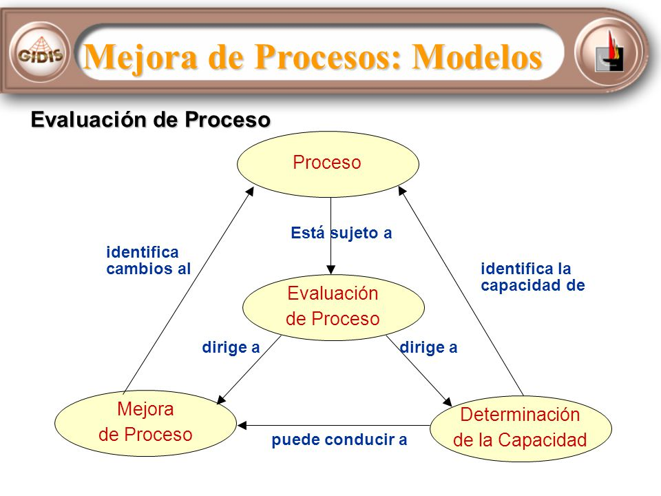 Algunos Modelos de Mejora 6 Sigma: Centrado en mejoras y medidas para bajar los costos del negocio - Define Measure Analyze Improve Control (DMAIC) / Design for Six Sigma (DFSS) ISO 9000/9001: Establece un marco fundamental de gestión de calidad TQM: Gestión de calidad total para satisfacer al cliente con rentabilidad CMM/CMMI: Implantar procesos que recogen las mejores prácticas (CMMI semejante a SPICE: ISO 15504)