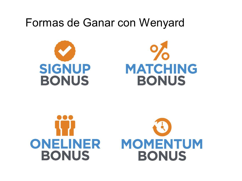 Formas de Ganar con Wenyard