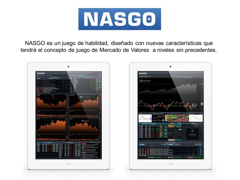 NASGO es un juego de habilidad, diseñado con nuevas características que tendrá el concepto de juego de Mercado de Valores a niveles sin precedentes.
