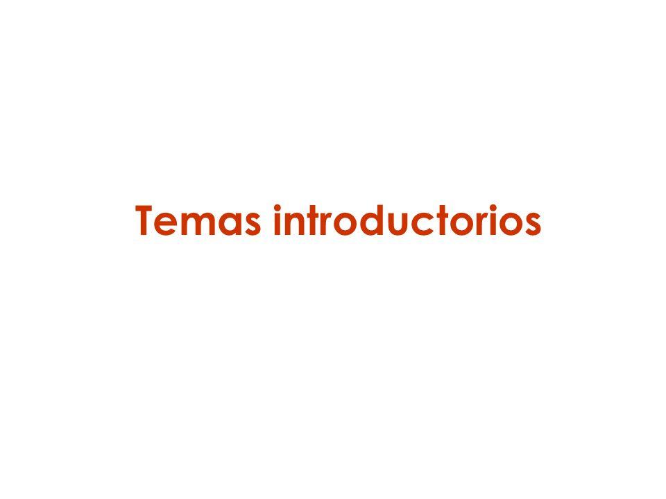 Temas introductorios