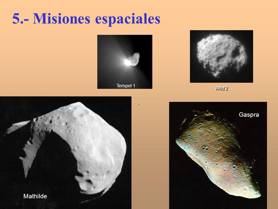 Gaspra Mathilde Tempel 1 5.- Misiones espaciales Wild 2