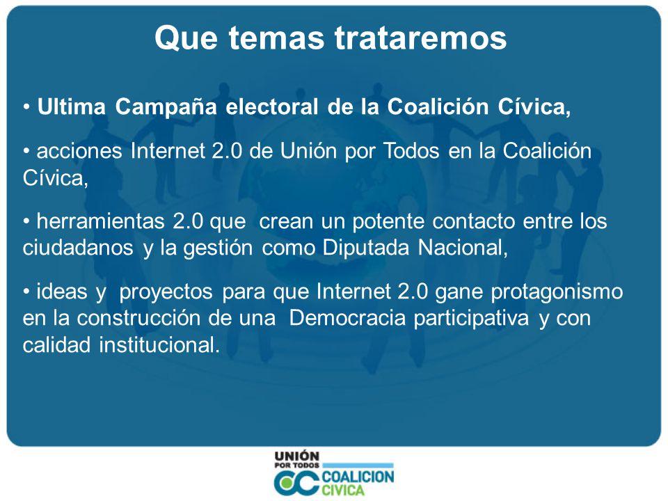 La Campaña 2.0 de la Coalición Cívica Clima: Adelantamiento de las elecciones, fraude electoral, pocas ideas.