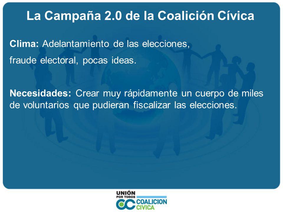 La Campaña 2.0 de la Coalición Cívica Acciones: 1.