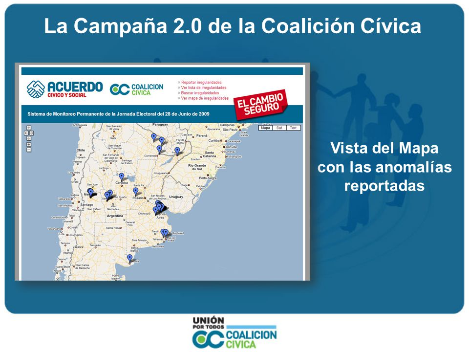 La Campaña 2.0 de la Coalición Cívica Otros espacios de Participación