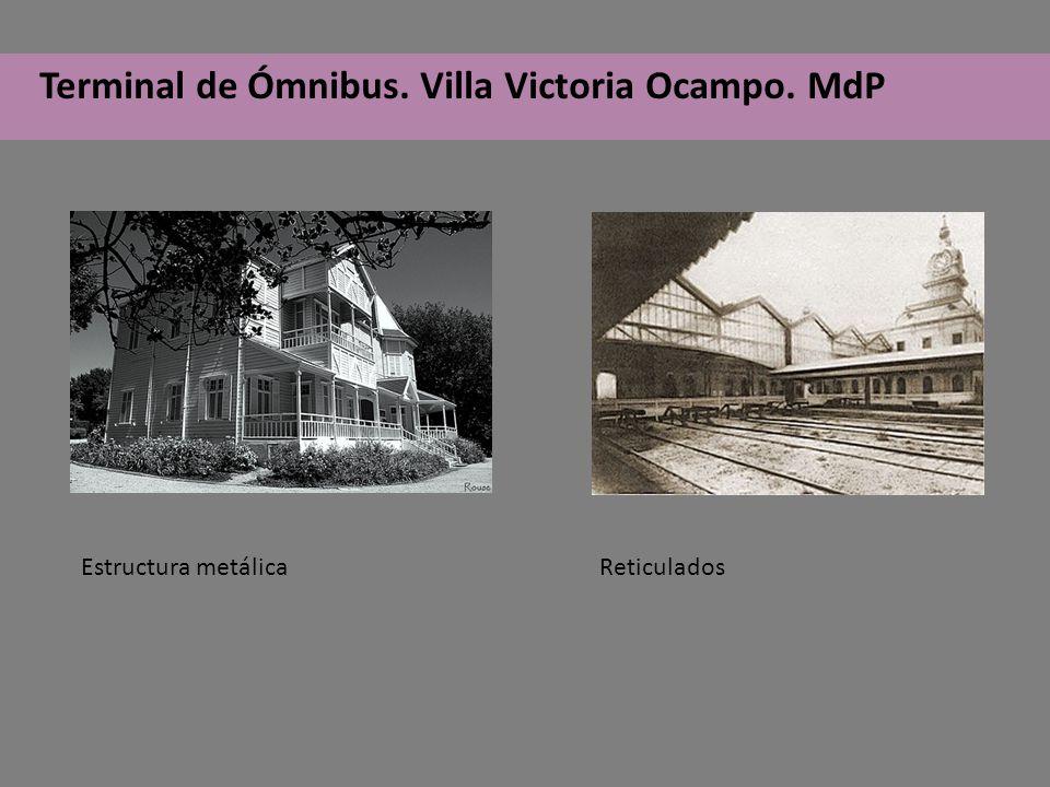 Terminal de Ómnibus. Villa Victoria Ocampo. MdP Estructura metálica Reticulados