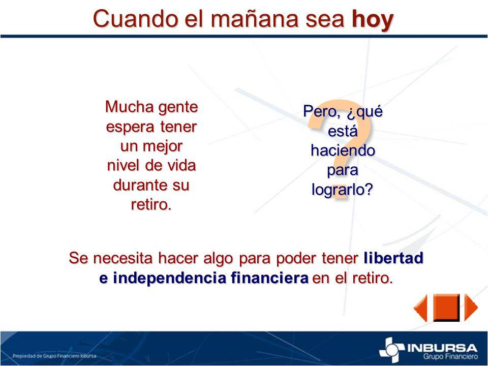 Edad 2565 Vida Productiva Jubilación/Retiro Se puede ser Independiente durante el Retiro si se tiene un Fondo de Retiro.