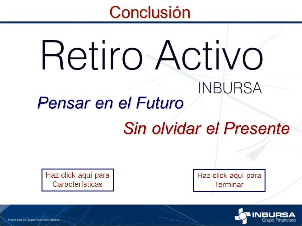 Haz click aquí para CaracterísticasConclusión Haz click aquí para Terminar Pensar en el Futuro Sin olvidar el Presente