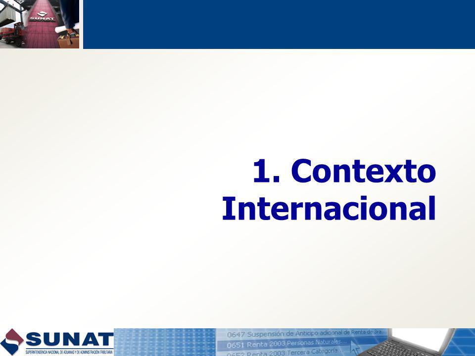 Características OEA: Acogimiento voluntario Implementación gradual: Exportador Depósito Agencia de Aduana Certificado otorgado por SUNAT Validez certificado: 3 años Referencias: C-TPAT, UE, OMA.