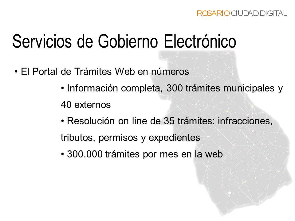 El Portal de Trámites Web en números Información completa, 300 trámites municipales y 40 externos Resolución on line de 35 trámites: infracciones, tri