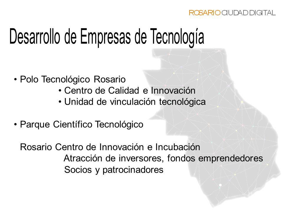Polo Tecnológico Rosario Centro de Calidad e Innovación Unidad de vinculación tecnológica Parque Científico Tecnológico Rosario Centro de Innovación e