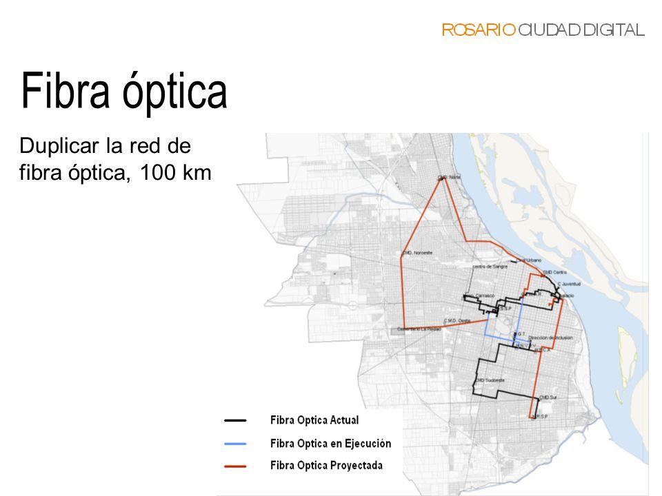 Duplicar la red de fibra óptica, 100 km