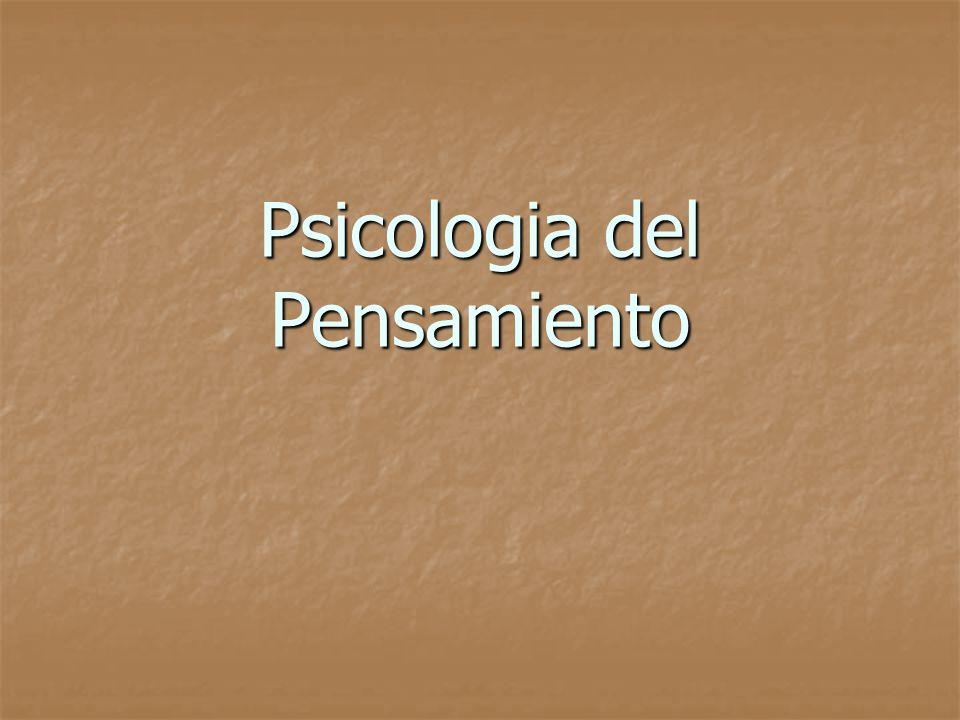 PSICOLOGÍA DEL PENSAMIENTO Definición: El pensamiento es considerado como un flujo de ideas, símbolos y asociaciones dirigidas hacia un objetivo, y que se expresan a través del lenguaje (pensamiento discursivo-verbal) o a través de la acción (pensamiento práctico).