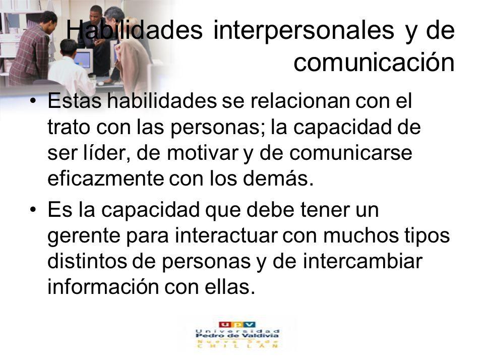 www.auladeeconomia.com Habilidades interpersonales y de comunicación Estas habilidades se relacionan con el trato con las personas; la capacidad de se