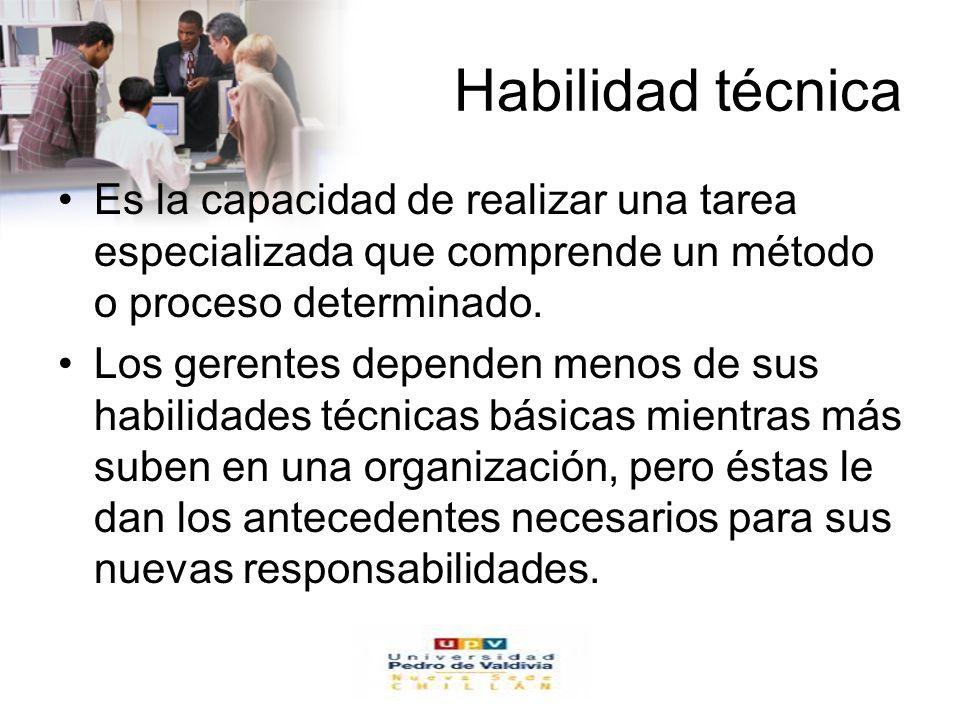 www.auladeeconomia.com Habilidad técnica Es la capacidad de realizar una tarea especializada que comprende un método o proceso determinado. Los gerent
