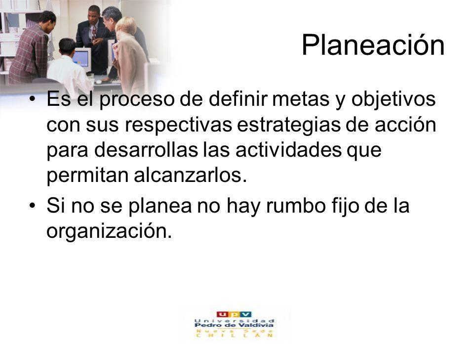 www.auladeeconomia.com Planeación Es el proceso de definir metas y objetivos con sus respectivas estrategias de acción para desarrollas las actividade