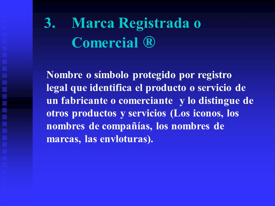 1.Derechos de Autor © Derecho exclusivo conferido por un gobierno al creador de obras literarias o artísticas originales (libros, dibujos, fotografías