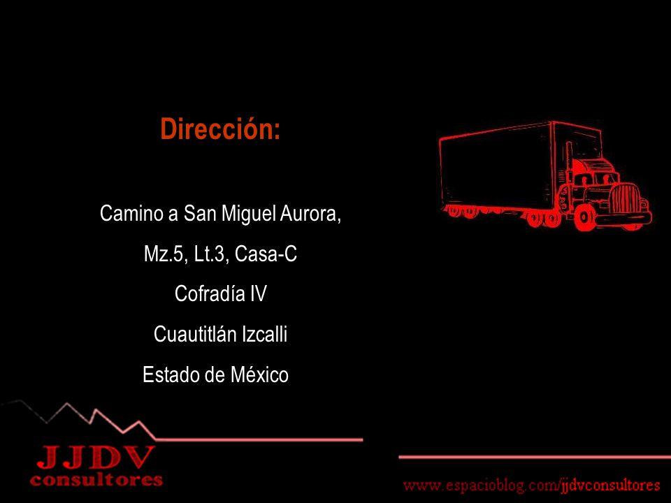 Dirección: Camino a San Miguel Aurora, Mz.5, Lt.3, Casa-C Cofradía IV Cuautitlán Izcalli Estado de México
