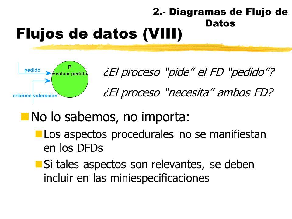 Flujos de datos (VII) Notación System Architect. Ejemplos FD convergentes (conectores XOR y AND) P Aceptar pago en metálico P Transferir pago P Acepta