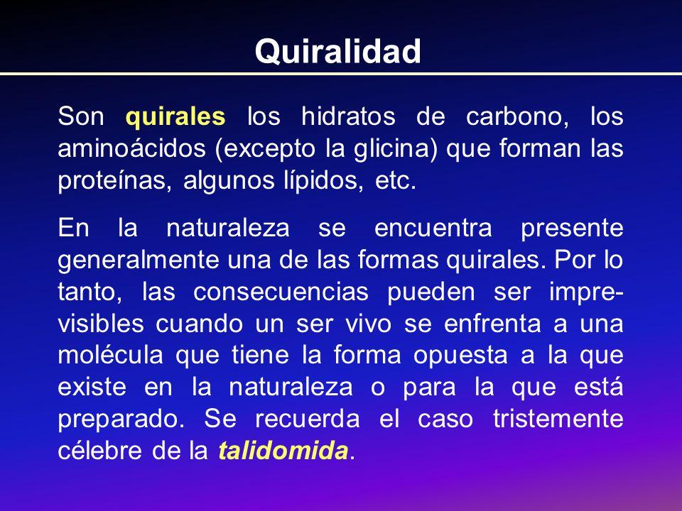 Quiralidad Enantiómeros de la Talidomida.