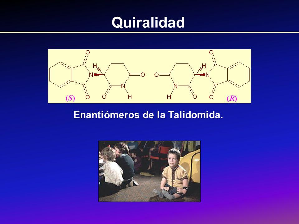 Configuración y rotación En el laboratorio se puede medir una rotación y ver si una sustancia es (+) o (-).